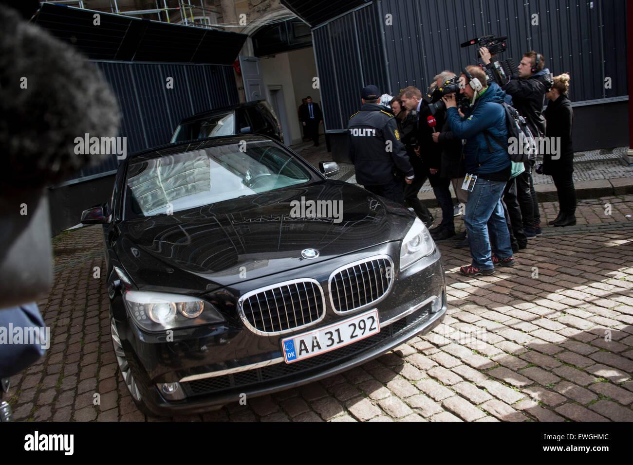Copenhagen, Denmark, June 19th, 2015: Resigning PM, Helle Stock ...