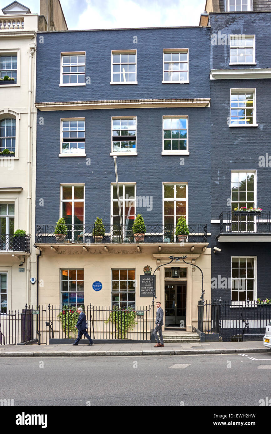 50 Berkeley Square London. The four-storey brick town
