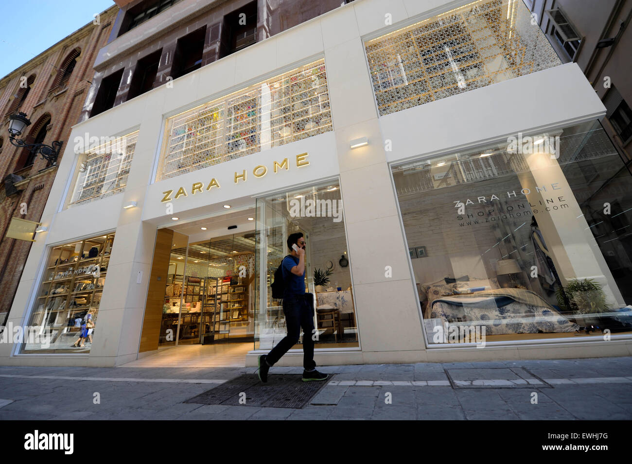 Zara home store in the main center of the old town in m laga spain stock phot - Zara home la madeleine ...