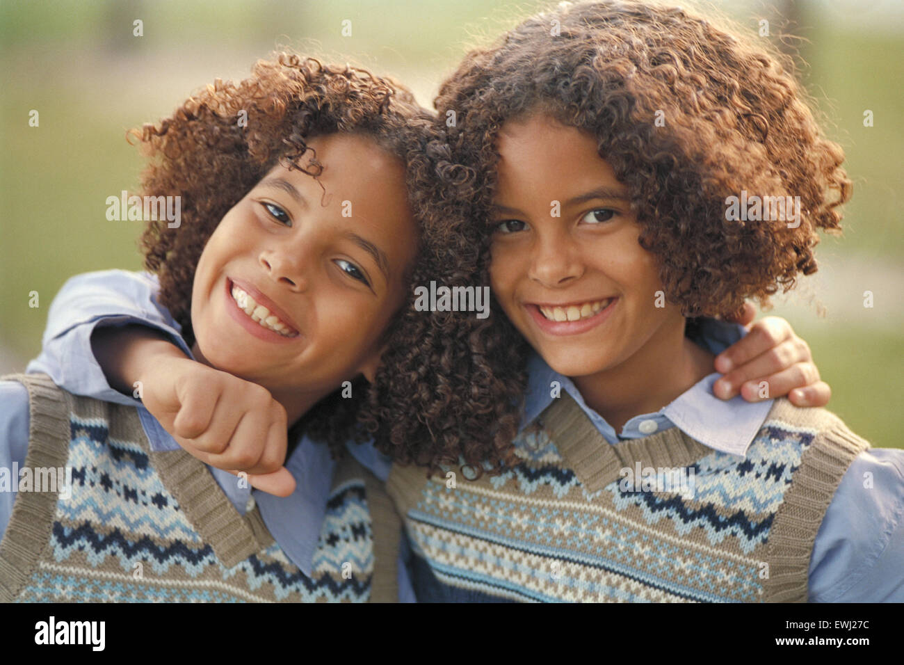 African american twins boy and girl for kids