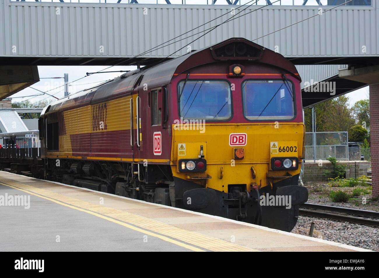 Class 66 diesel locomotive 66002 heads a northbound ...