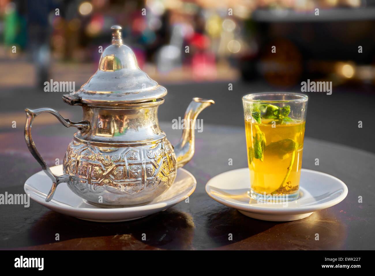 Moroccan Tea Served In Djemaa El Fna Square Marrakesh
