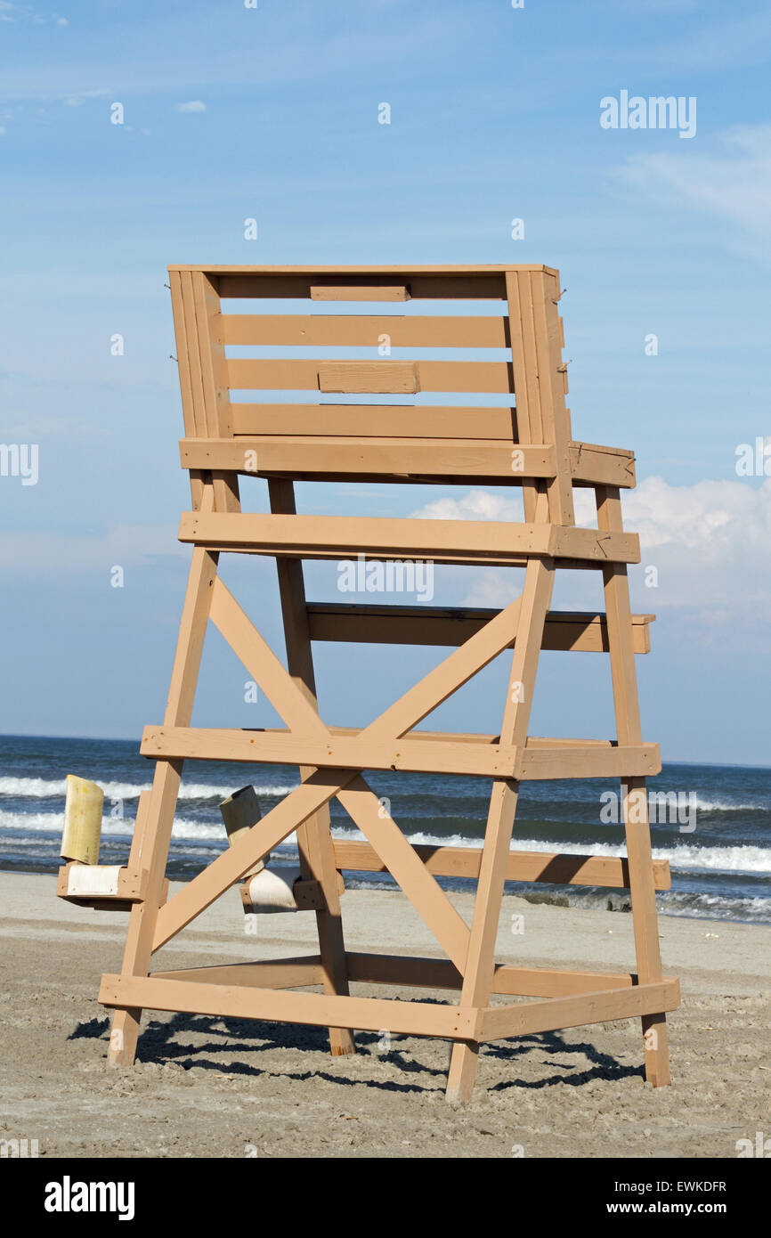 lifeguard chair on the beach in wildwood crest new jersey usa