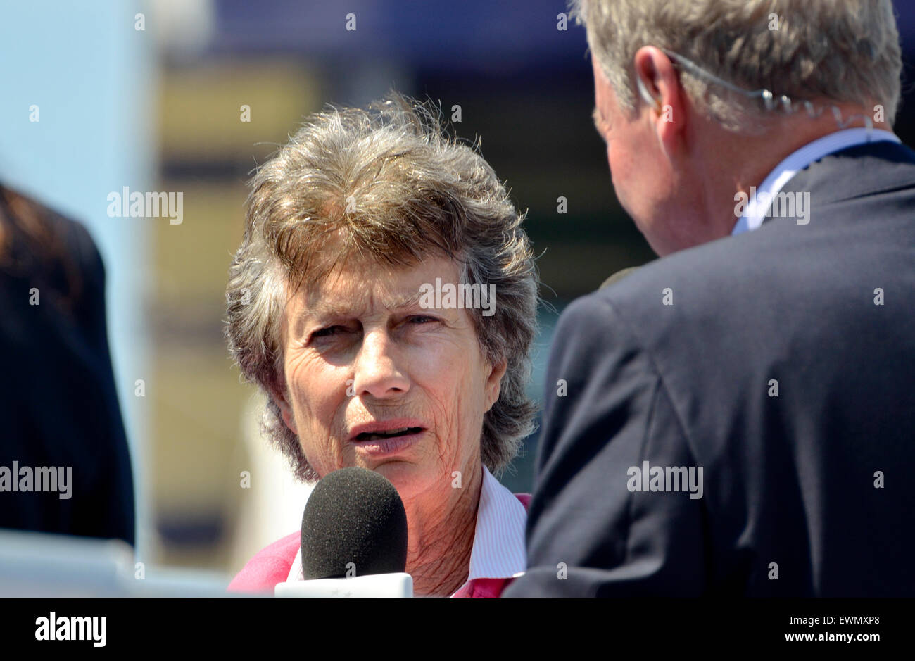 Virginia Wade former British No 1 la s tennis player doing a