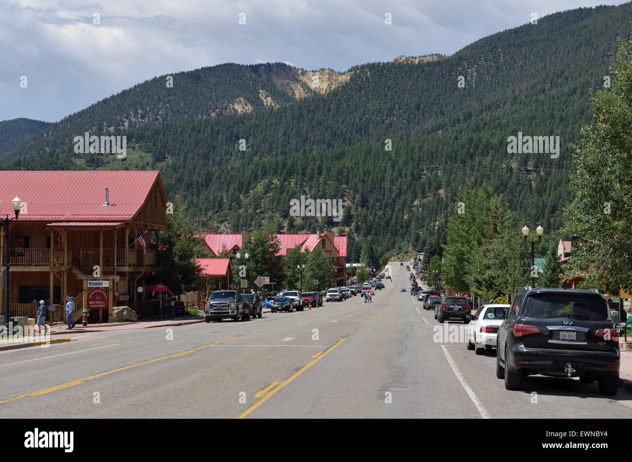 New mexico taos county carson - Main Street Red River Ski Resort In Summer Taos County New Mexico Usa Stock Image