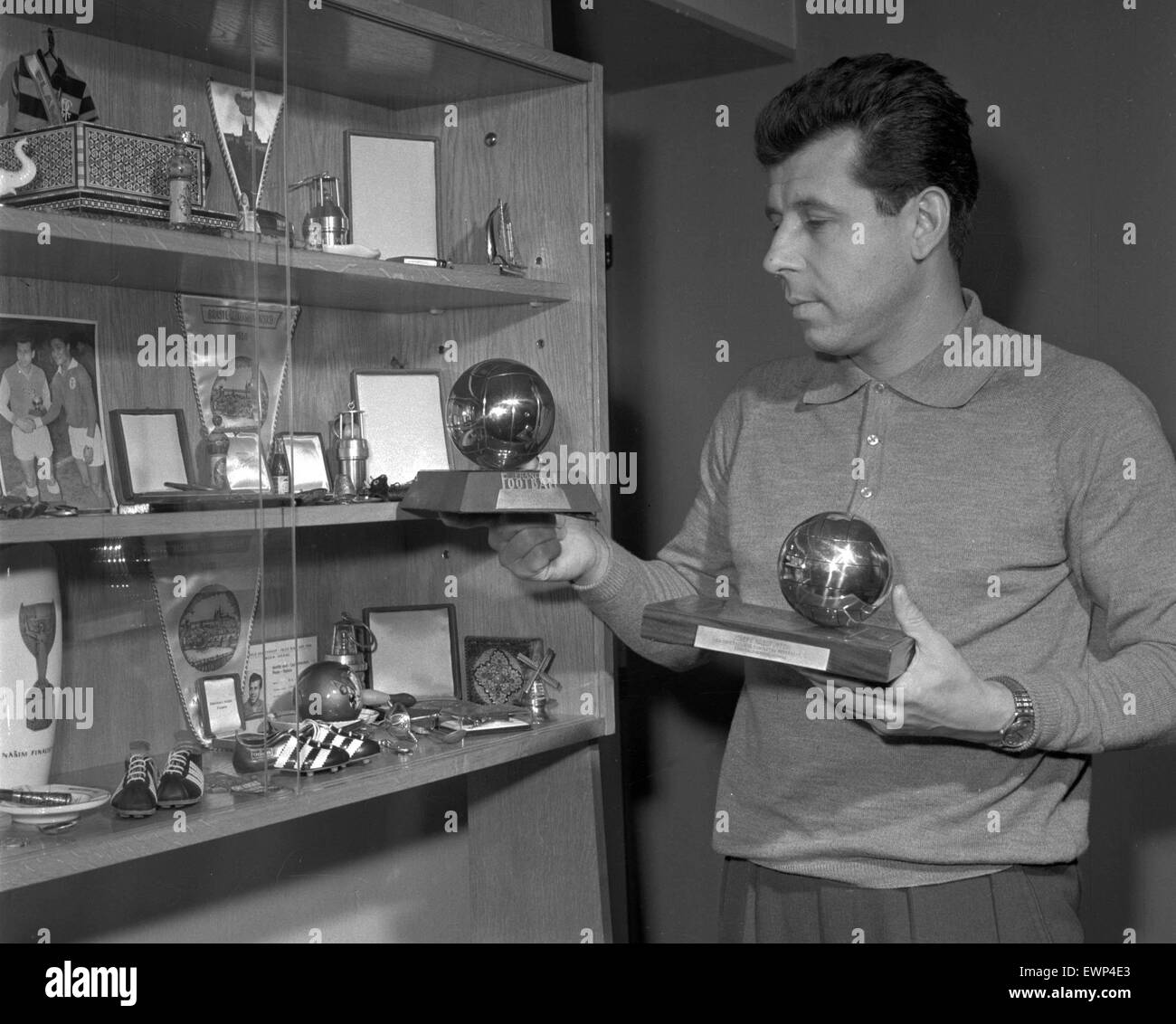 FILE PHOTO Prague 1966 Josef Masopust in his flat in Prague