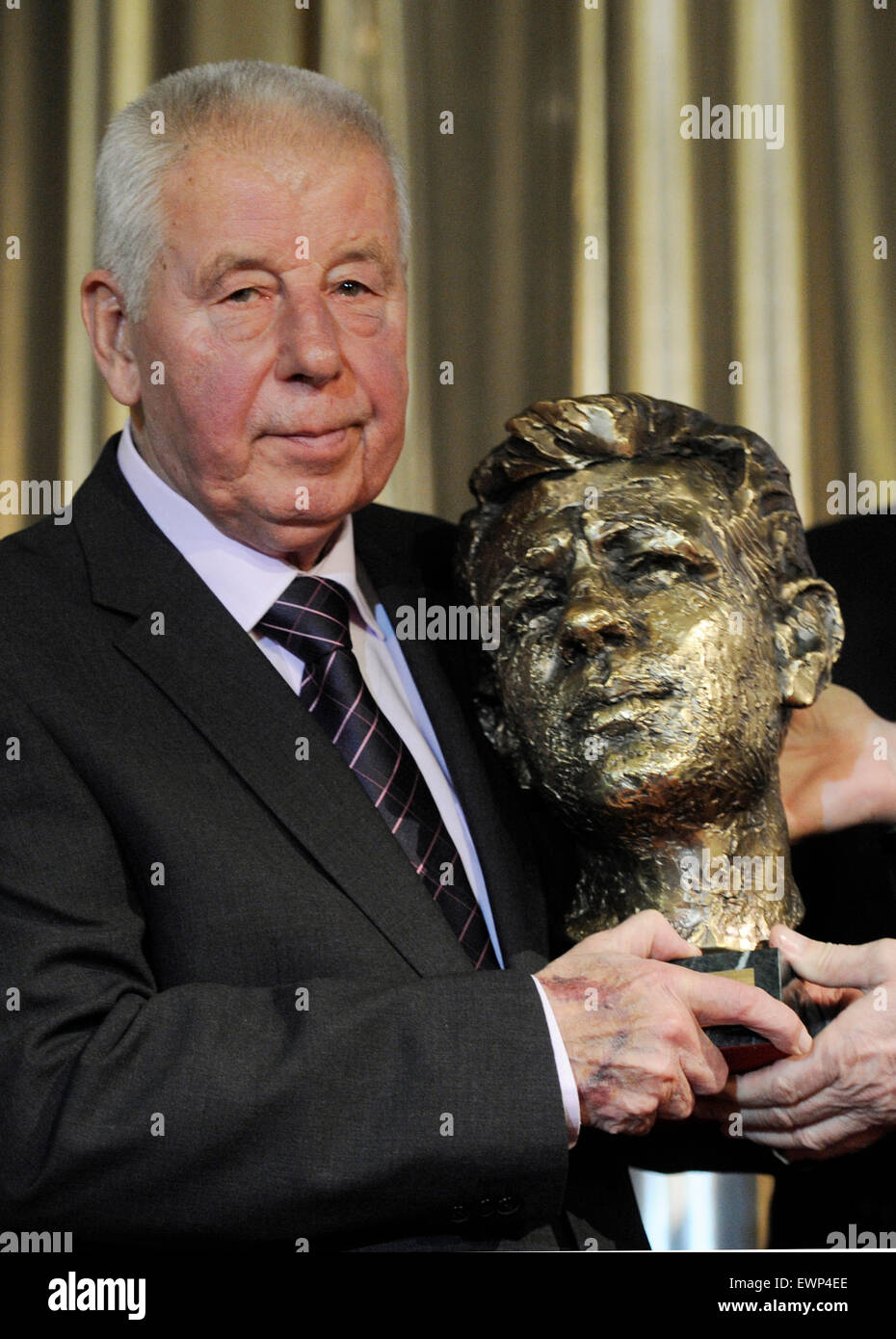 FILE PHOTO Legendary soccer player Josef Masopust poses with