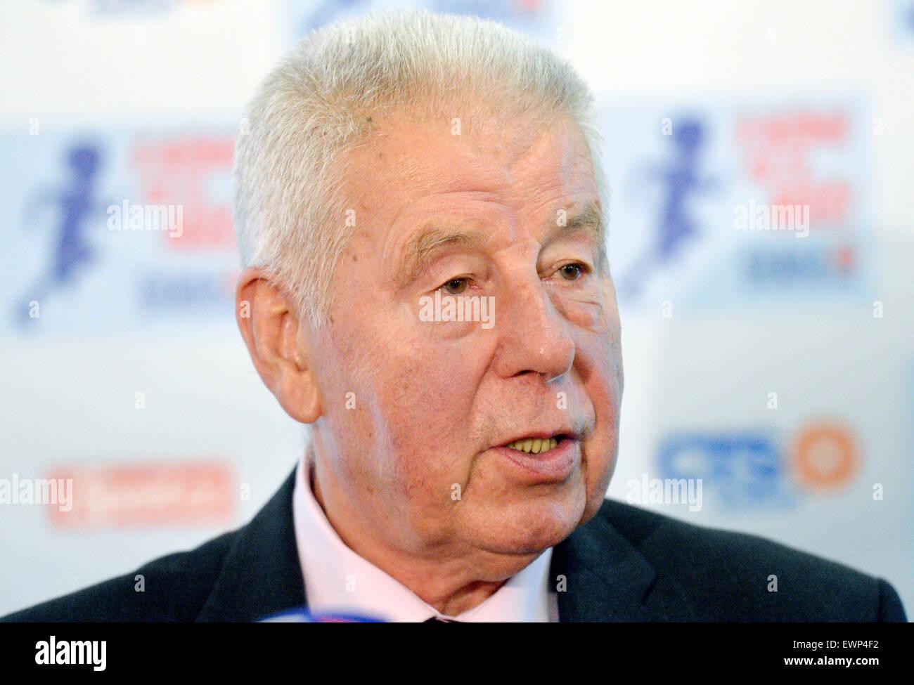 FILE PHOTO Former Czech soccer player Josef Masopust in Prague