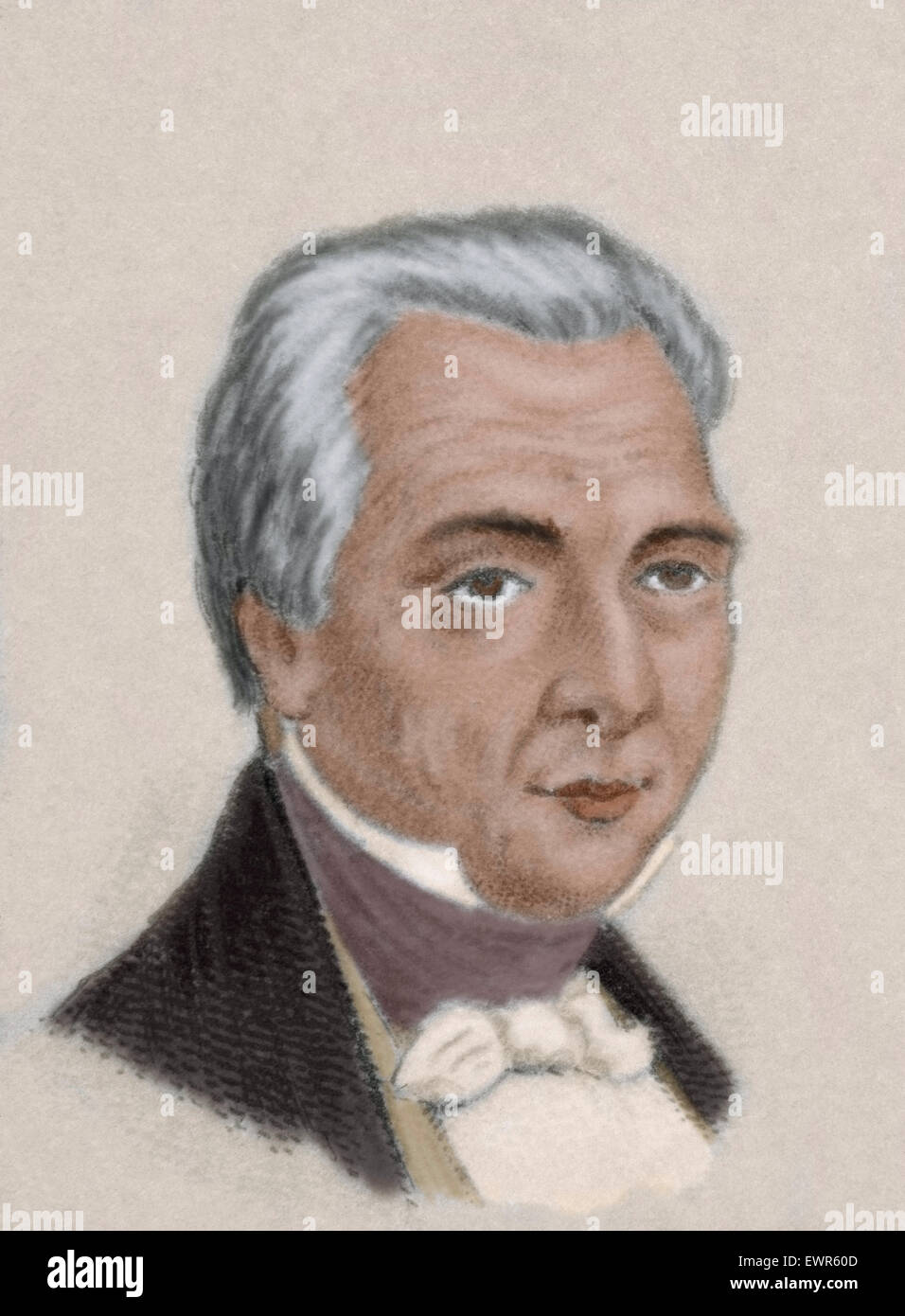 <b>Jose Mariano</b> Michelena (1772-1852). Mexican military officer and politician. - jose-mariano-michelena-1772-1852-mexican-military-officer-and-politician-EWR60D