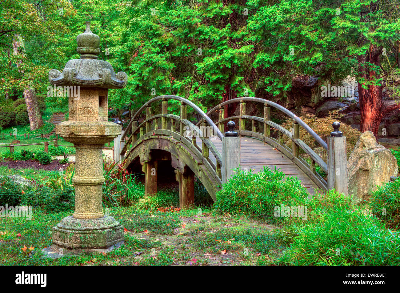 Japanese Garden Bridge At Maymont Park, Richmond, Virginia