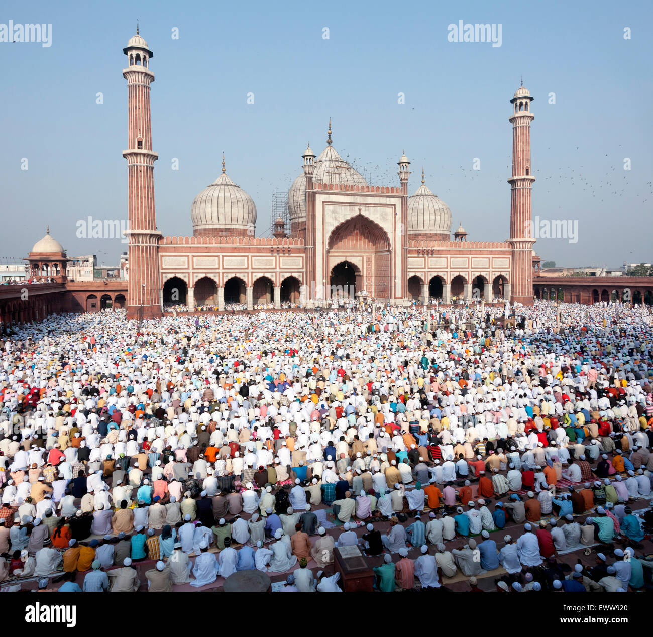 Festival of Eid-ul-fitr being celebrated at the Jama ...