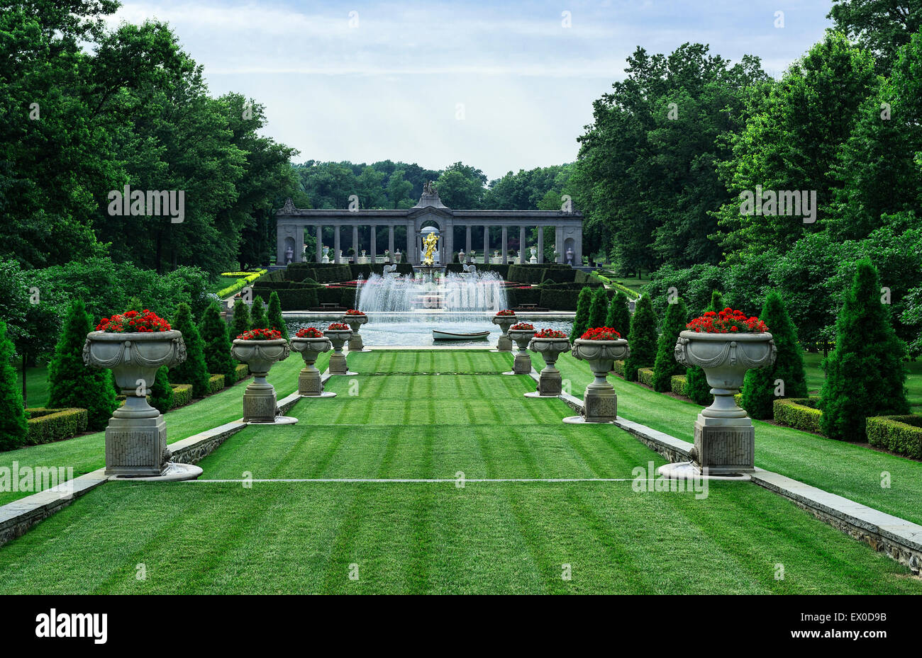 Nemours Mansion And Gardens, Wilmington, Delaware, USA   Stock Photo