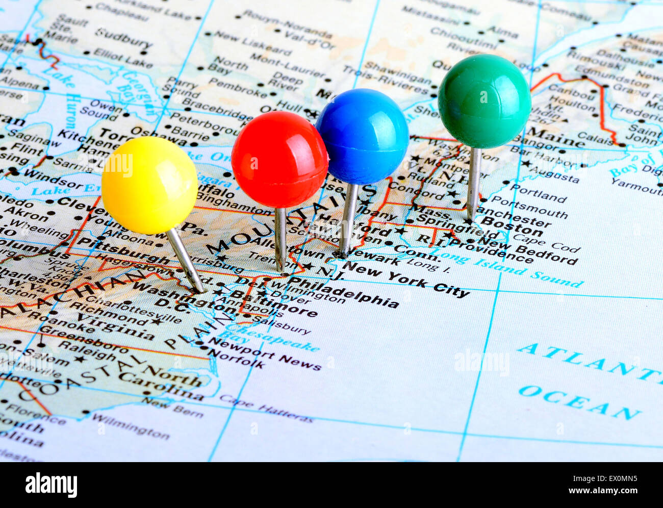 Northeastern US Physical Map Northeast US Map List Of US States - Map us beaches