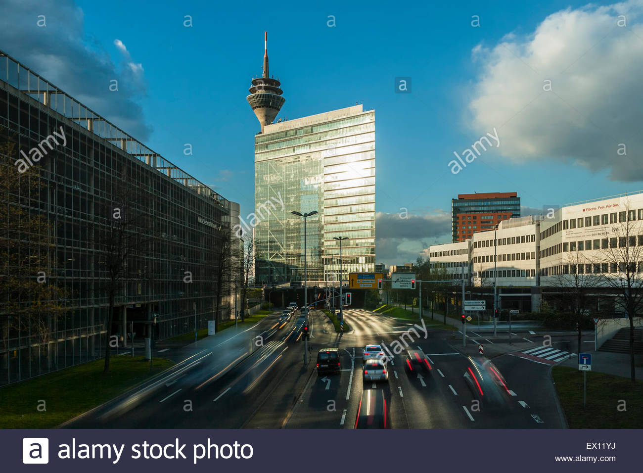 Modern Architecture Germany stadttor duesseldorf city gate building tv tower modern