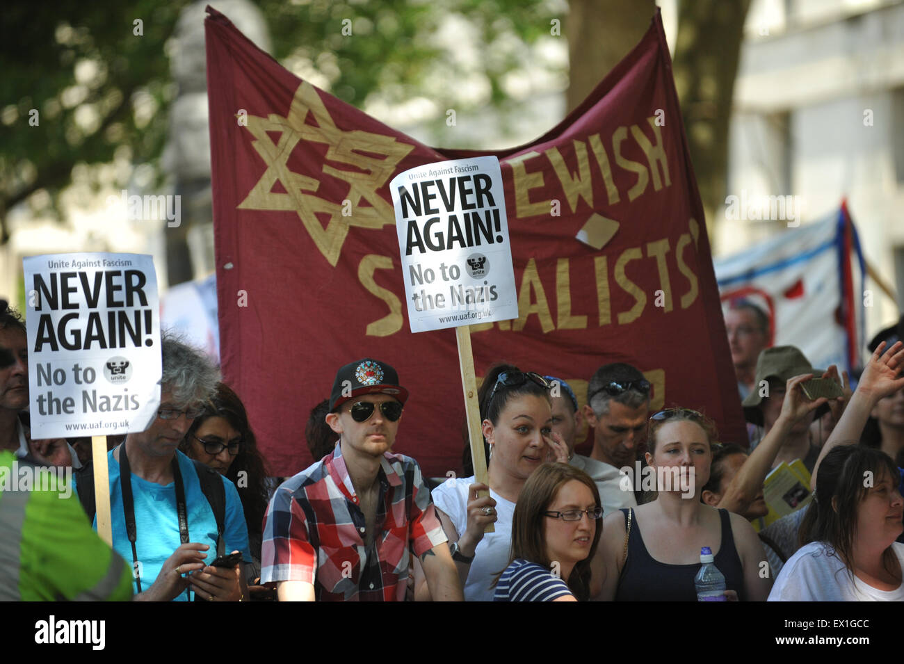 Image result for unite against fascism whitehall protest anti semitism
