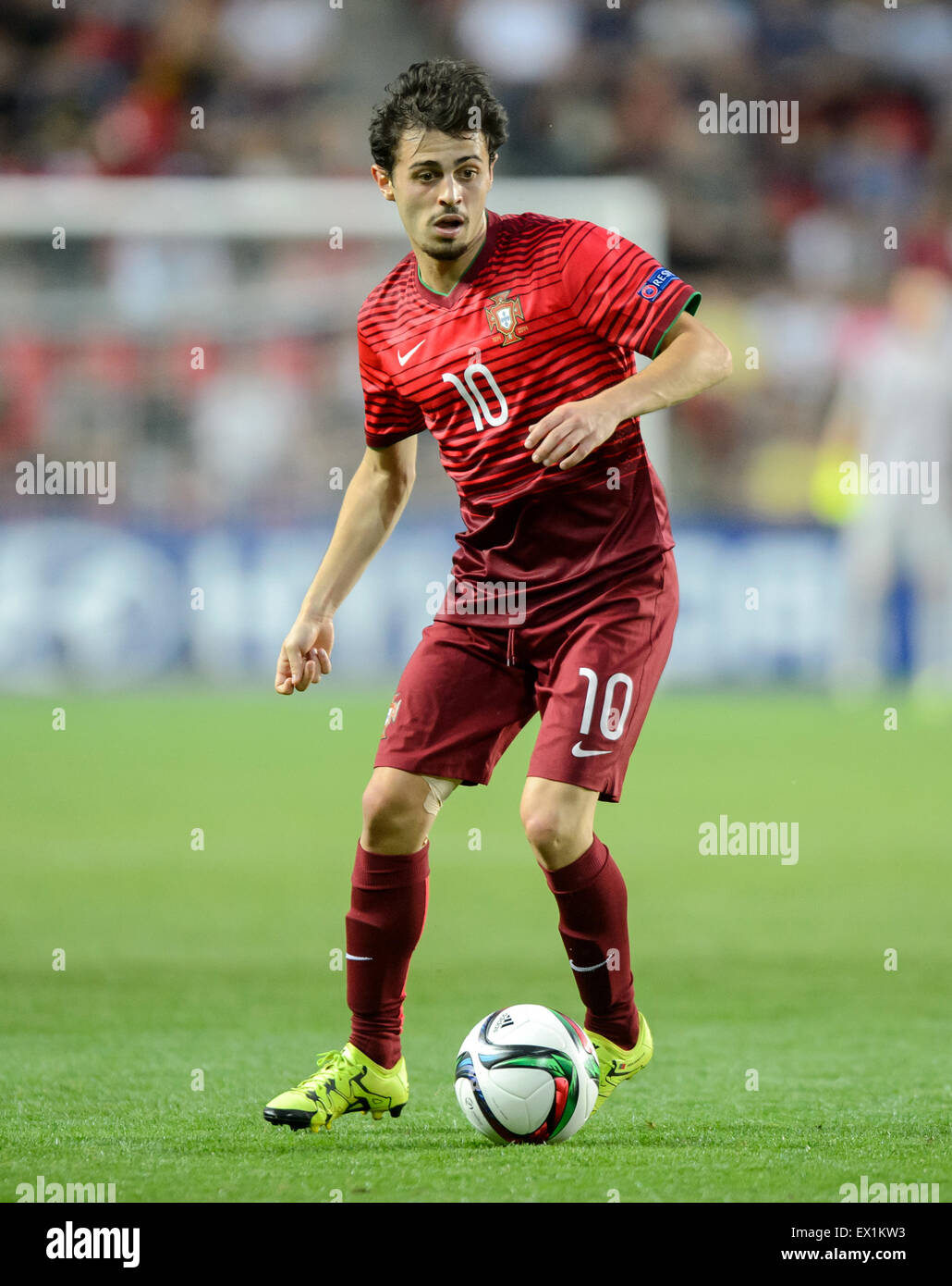 Portugal s Bernardo Silva in action during the UEFA Under 21 Stock