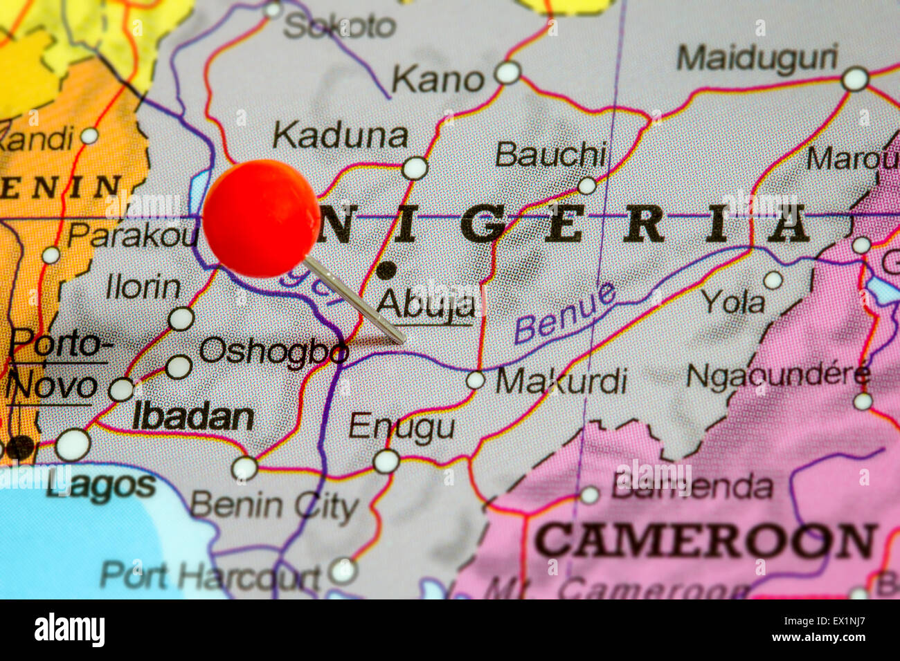Map Of Nigeria Stock Photos Map Of Nigeria Stock Images Alamy - Map of nigeria