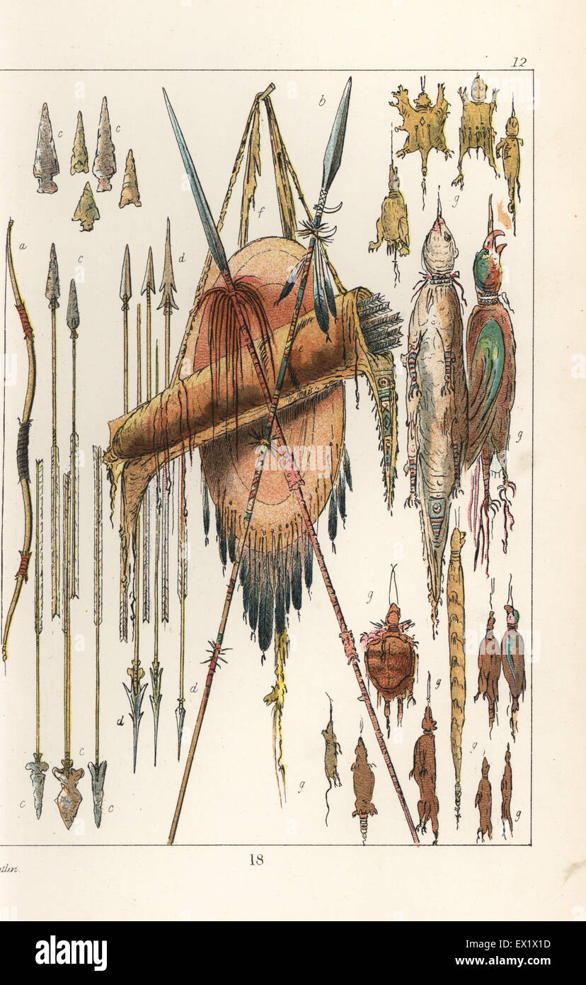 Native american bow and arrows stock photos native american bow native american spears arrows arrowheads bows quiver and medicine bags made of buycottarizona