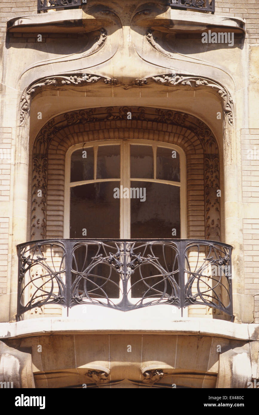 Balcony french doors - France Paris Rue De La Fontaine French Balcony With Double Doors And Wrought