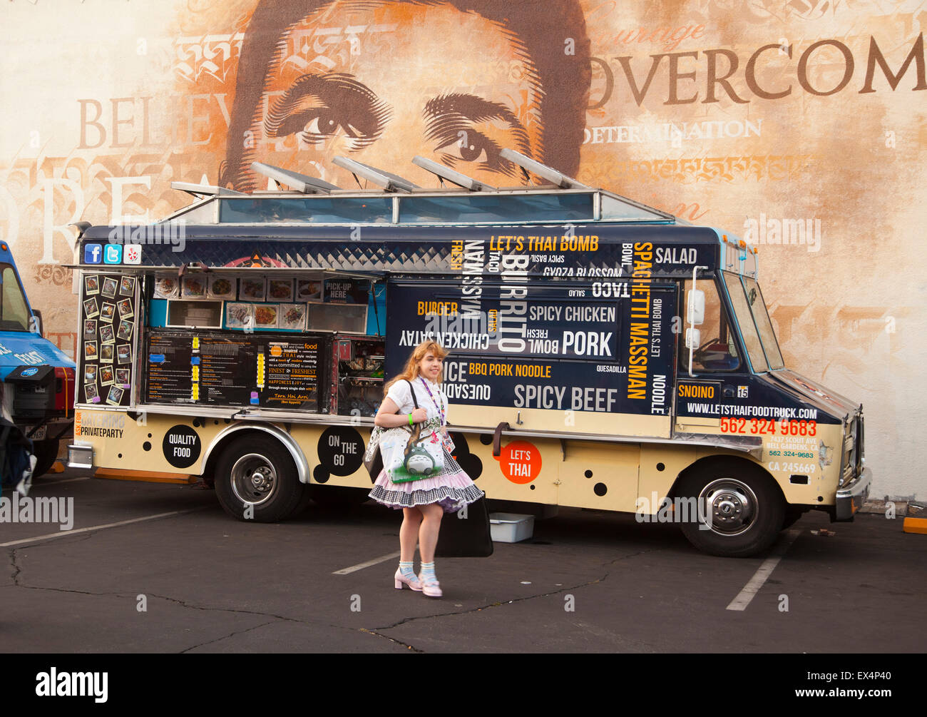 Food Truck At 2015 Anime Expo Los Angeles Convention Center