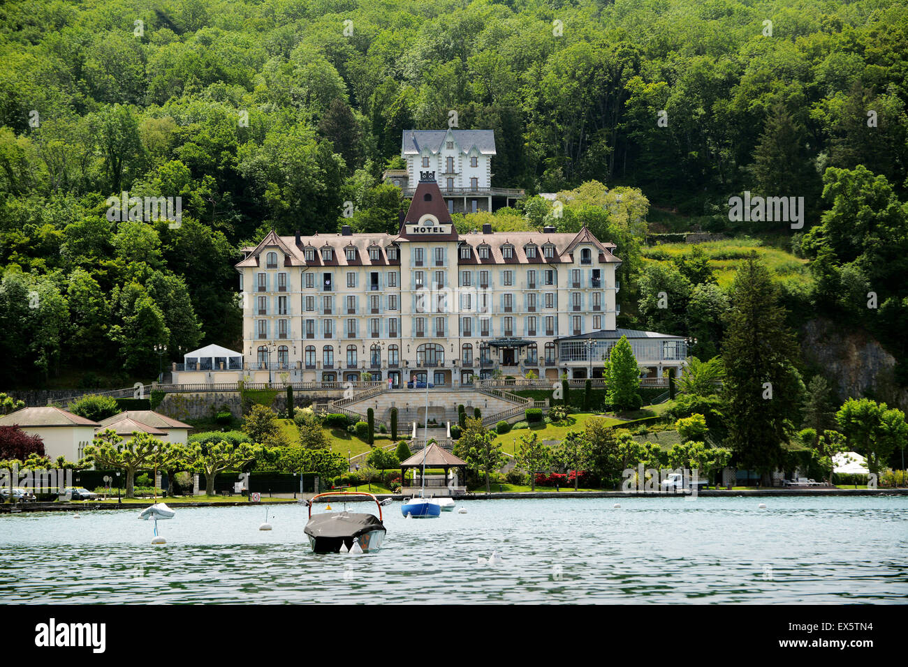 L 39 Imperial Palace Hotel At Menthon St Bernard On Lake Annecy In Stock Photo Royalty Free Image