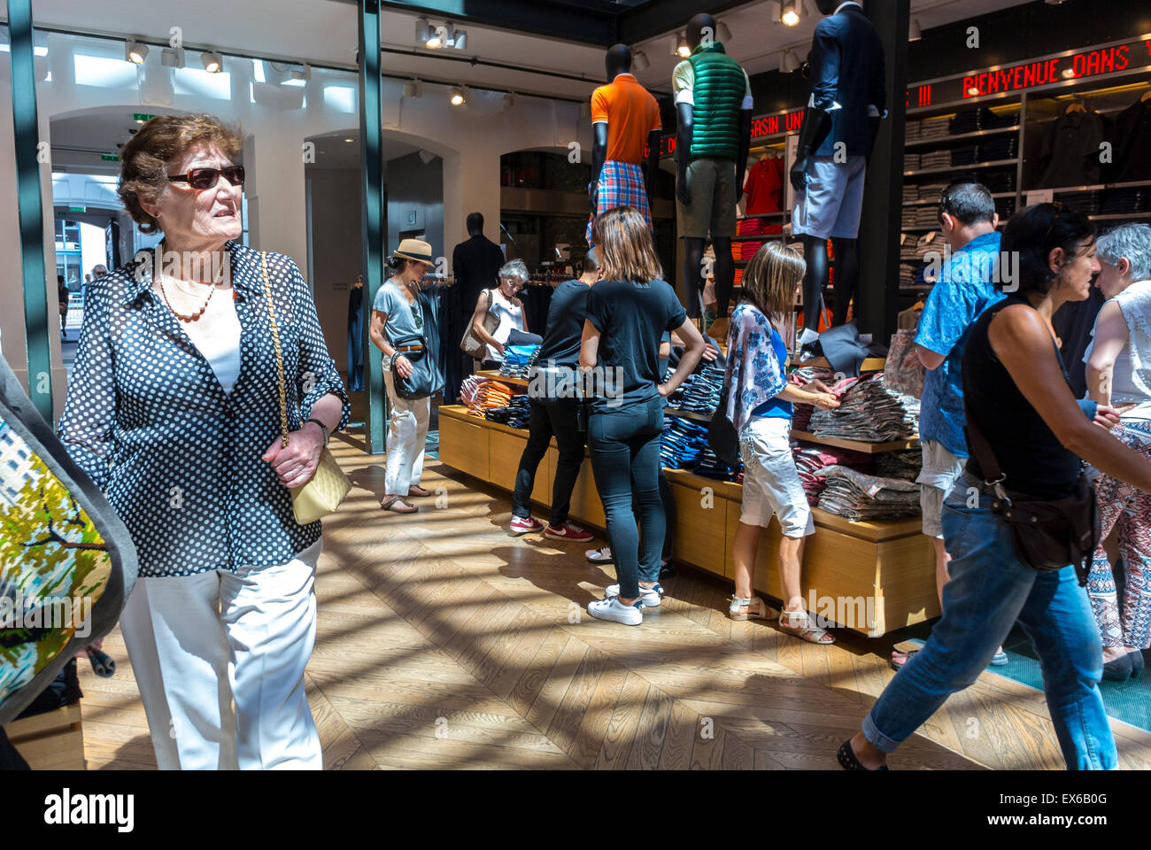 Paris, France, Women Shopping In The Marais District. Inside ...