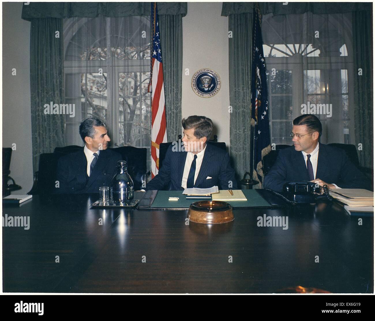 Shah Of Iran (reza Pahlavi), President John F Kennedy, Secretary Of Defence
