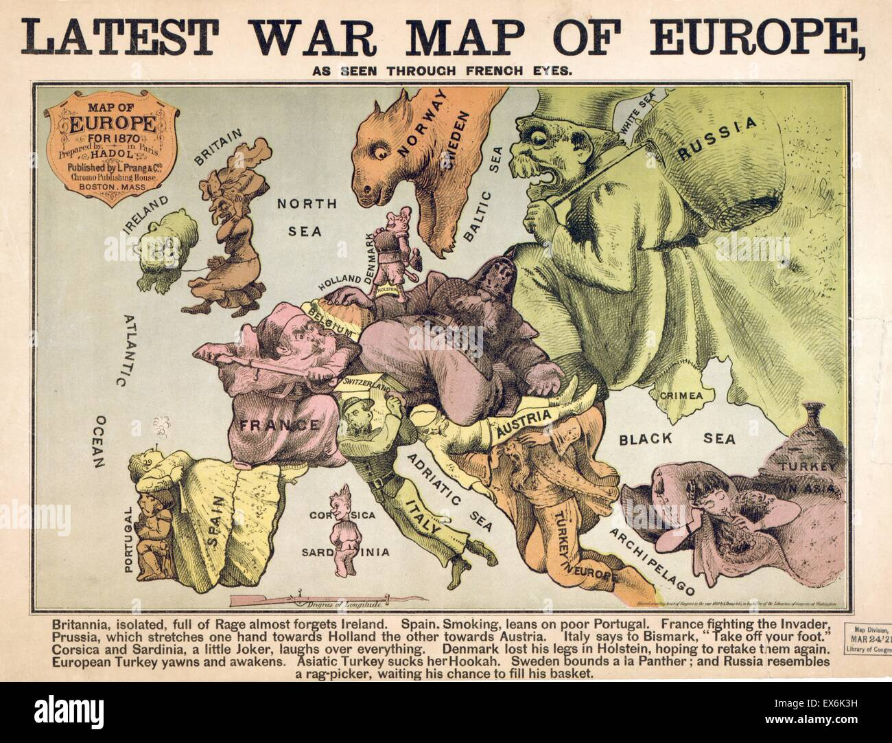 Map Of Europe Characterising The Rival Super Powers After The Map Of Europe 1870
