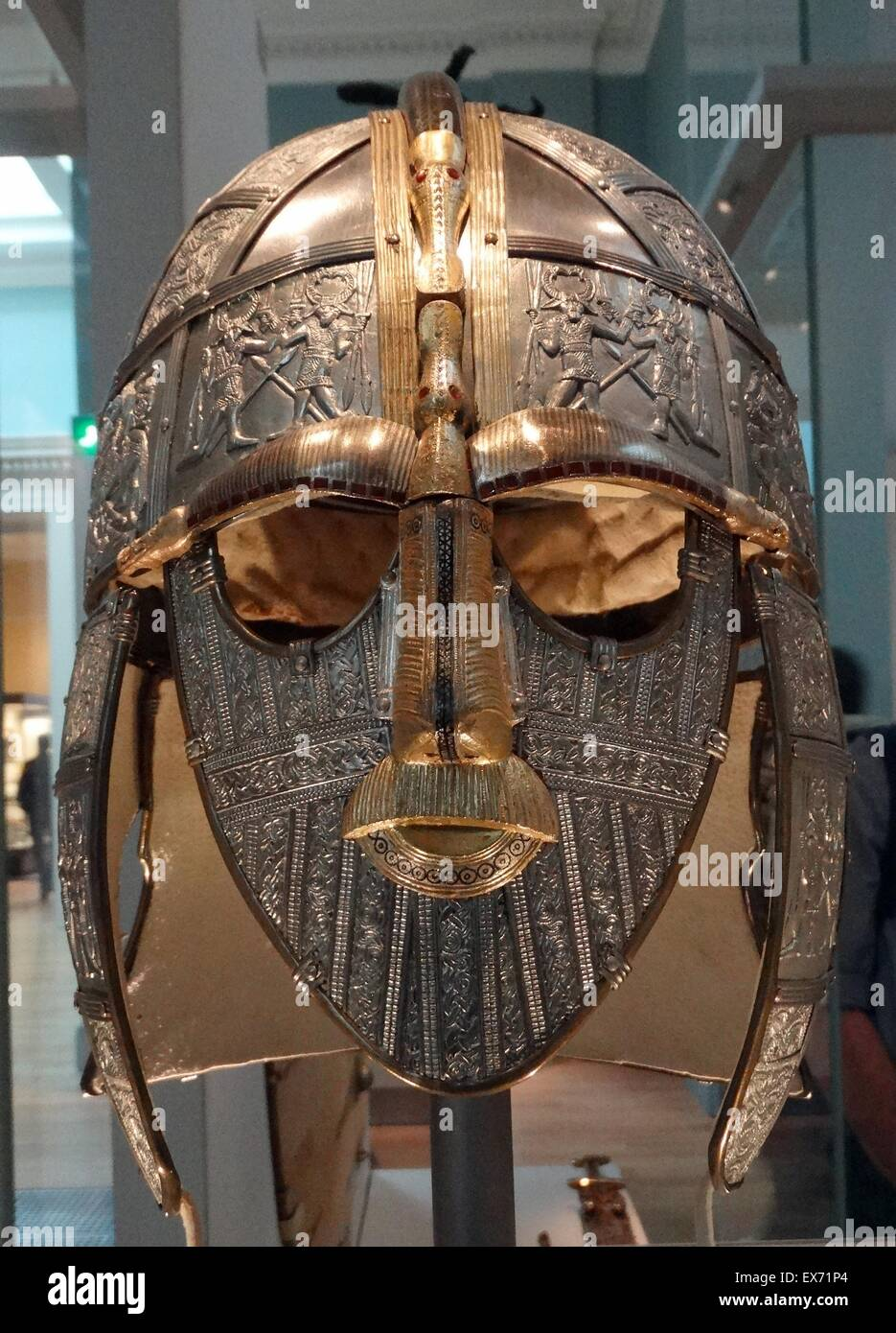A replica of the sutton hoo helmet anglo saxon early 7th for The sutton