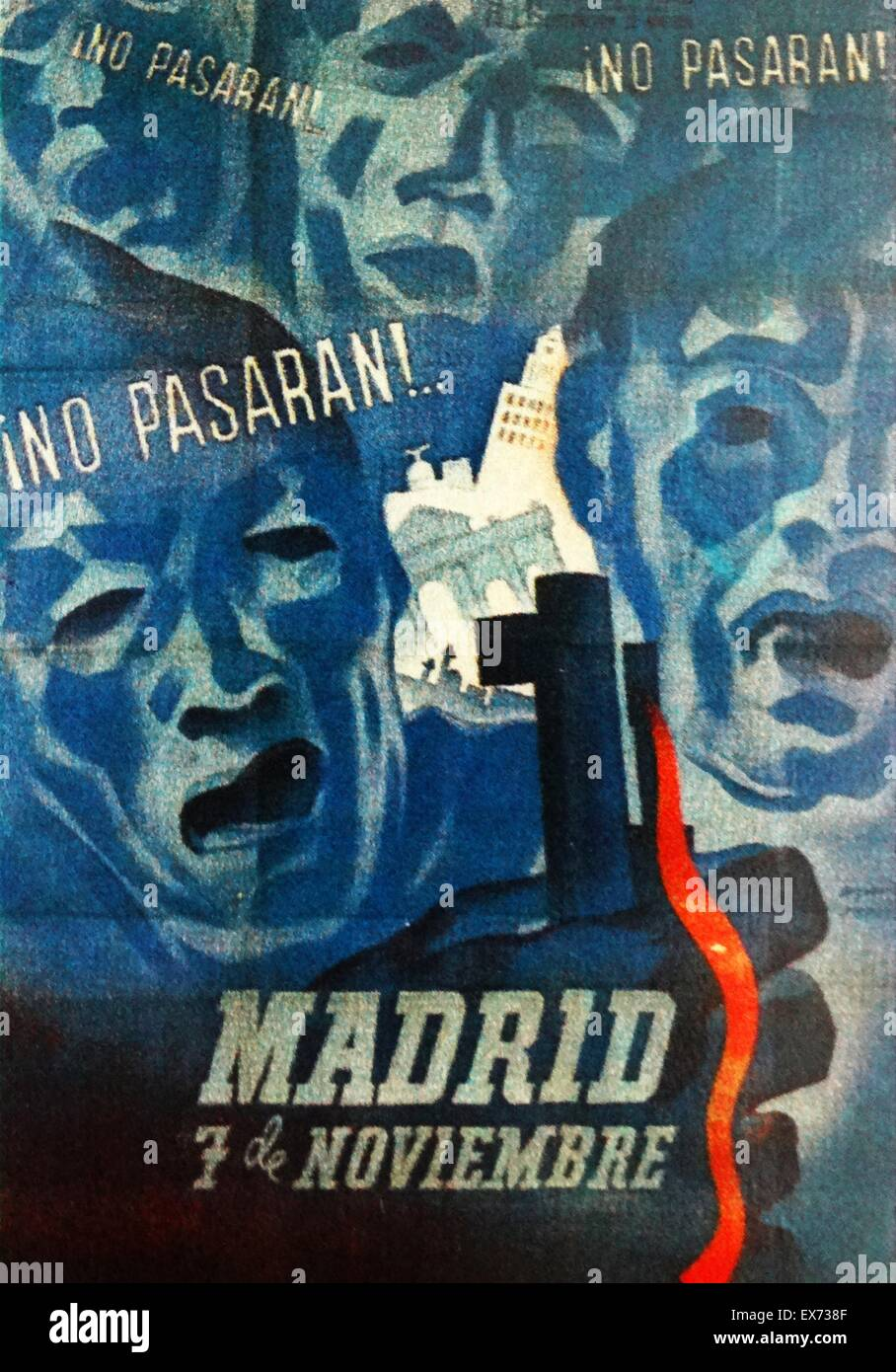 no pasaran spanish republican poster they shall not pass was