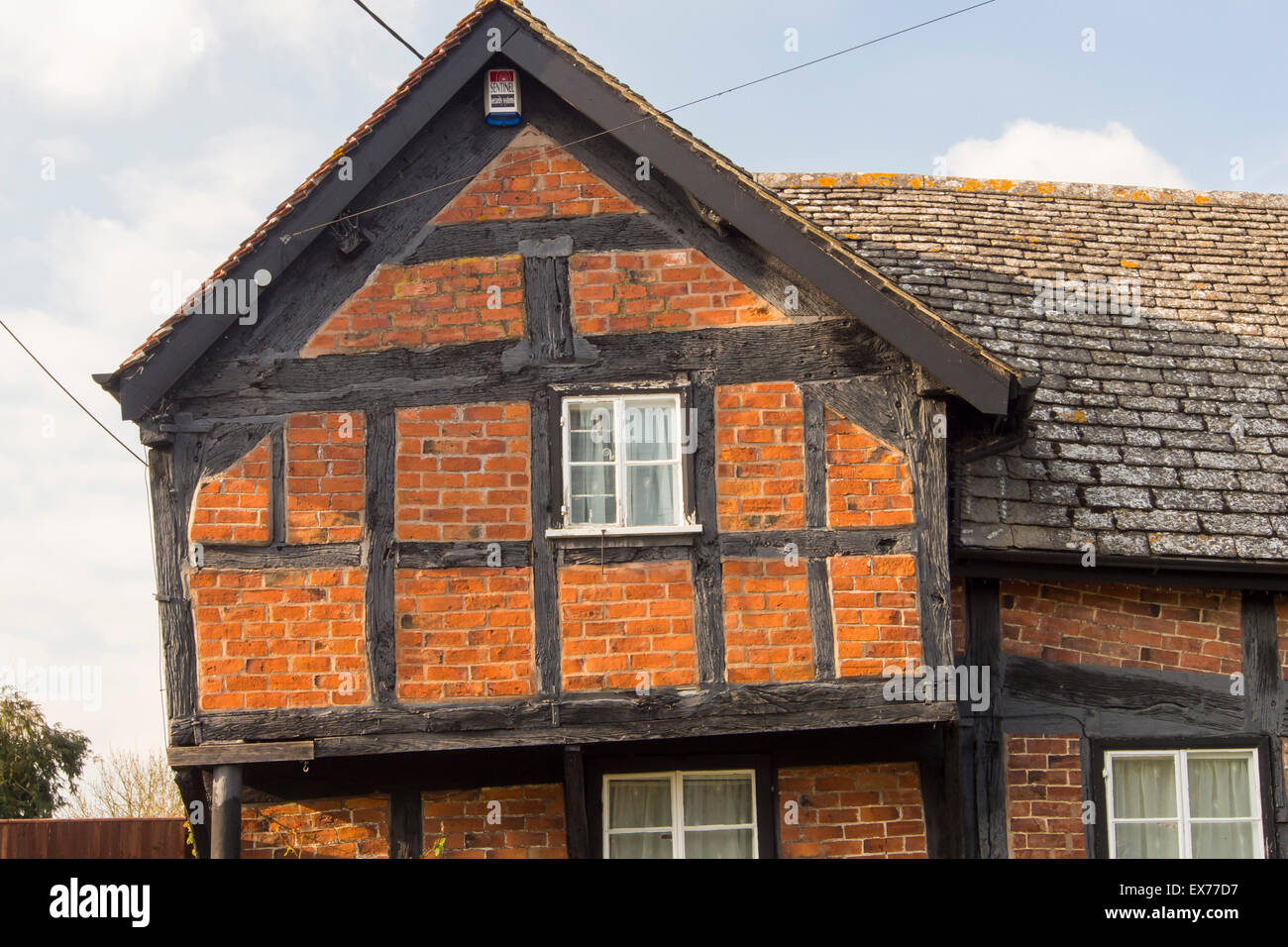 ancient medieval tudor timber framed houses in pembridge stock