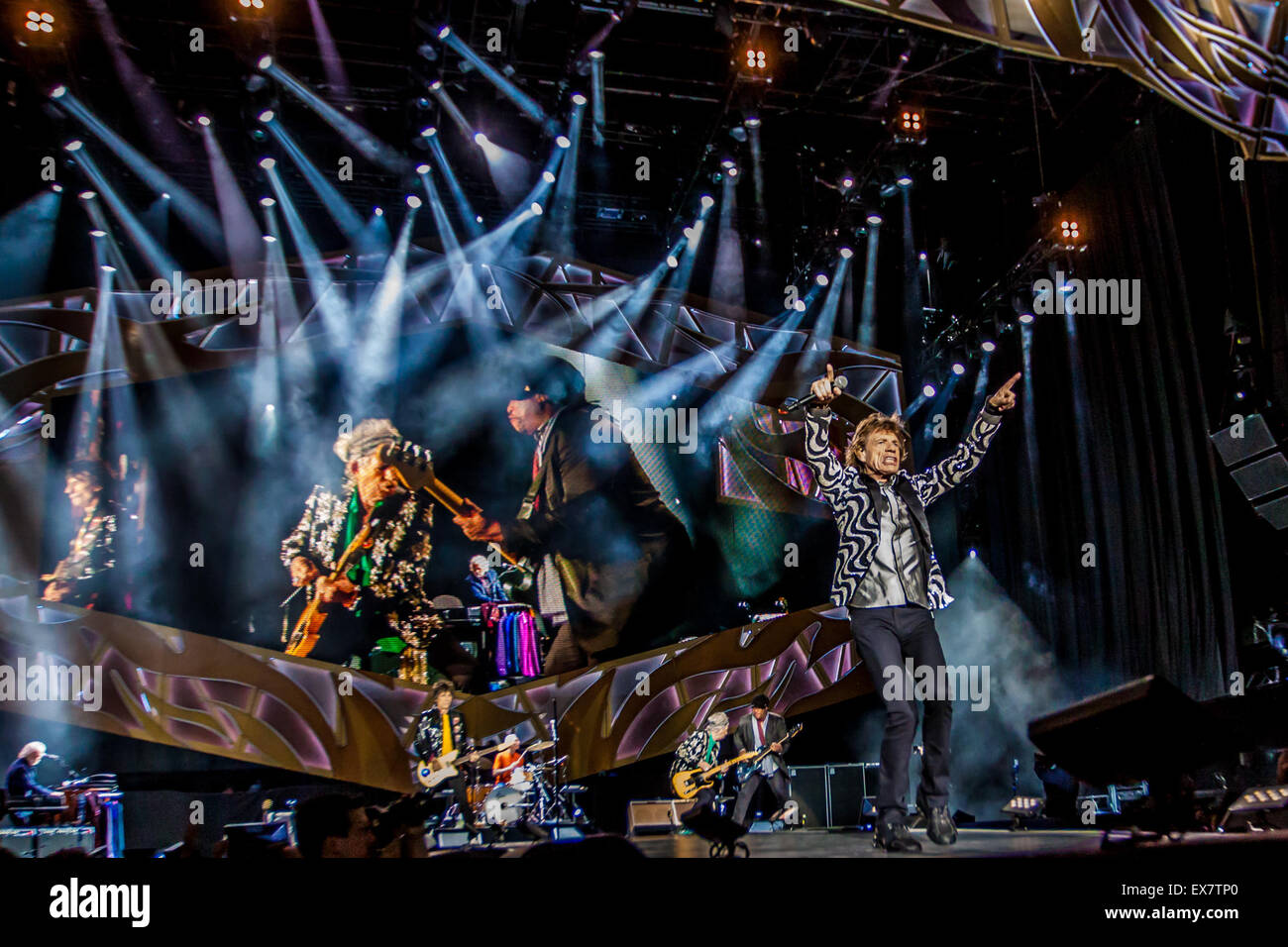 Comerica Wiring Instructions : Detroit michigan usa th july the rolling stones