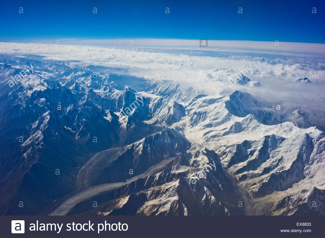 Himalayas aerial view of himalayan mountain range stock photo himalayas aerial view of himalayan mountain range sciox Gallery