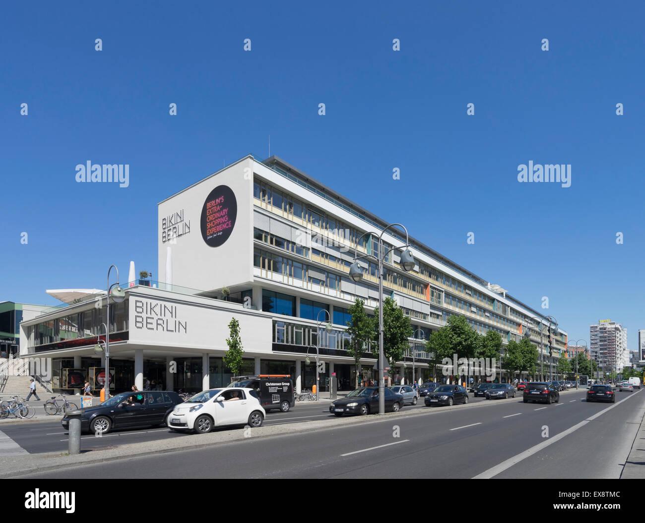 Exterior view of new bikini berlin upmarket fashion and for Shopping mall exterior design