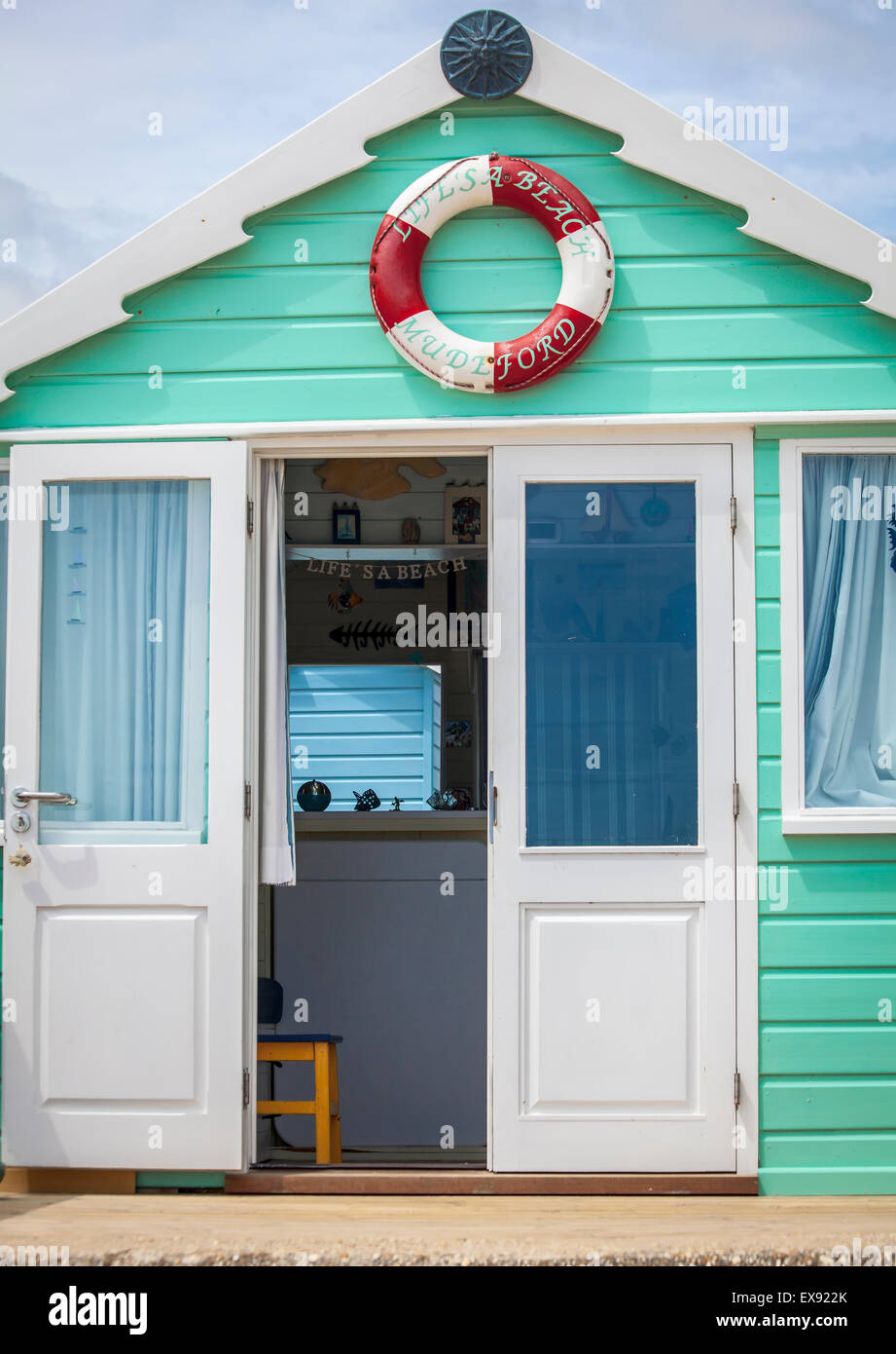 Open window beach - An Open Door To A Green Beach Hut On A Summer S Day At Hengistbury Head Near Christchurch On The Dorset Coast