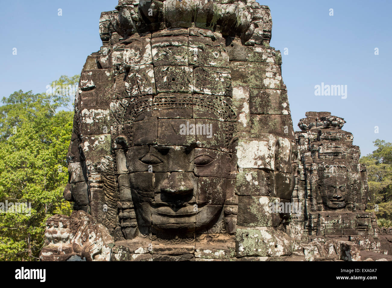 Asia cambodia siem reap stone carvings of the th