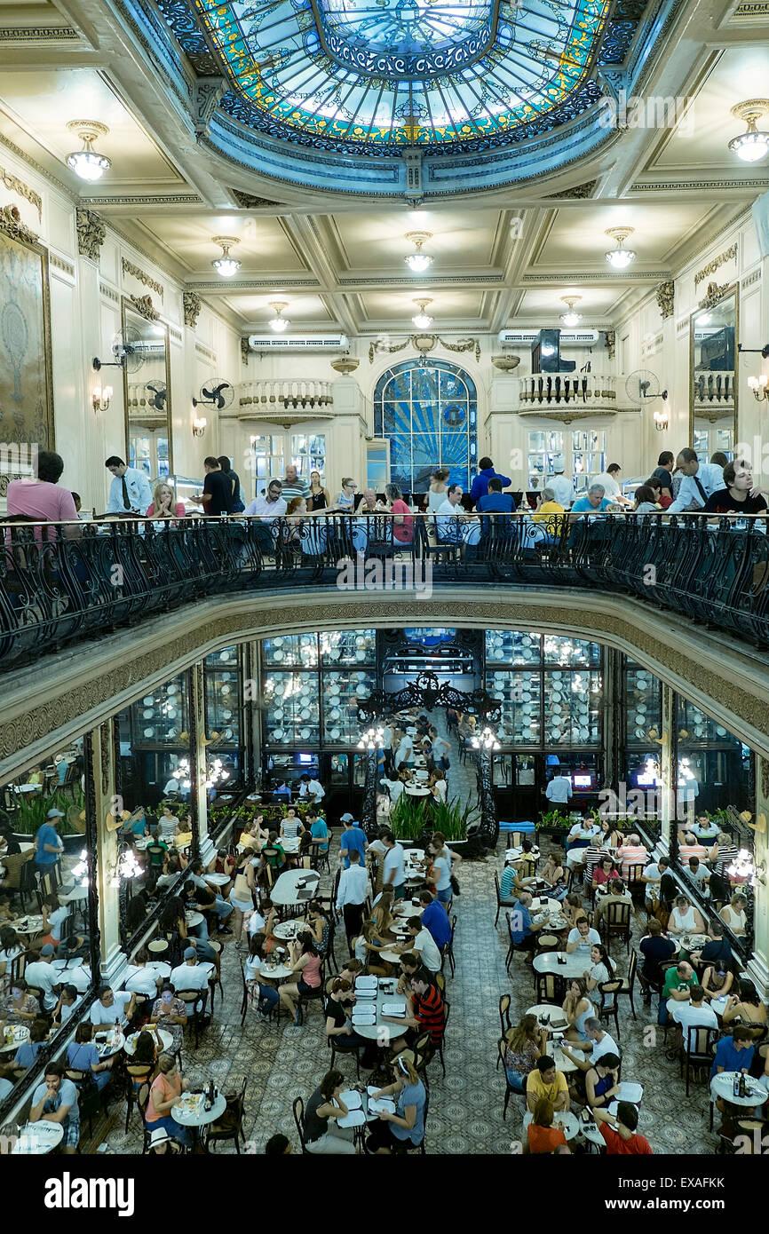 FKK - Brazil Confeiteria Colombo, historic and traditional Portuguese art nouveau cafe  in the city centre, Rio de Janeiro, Brazil