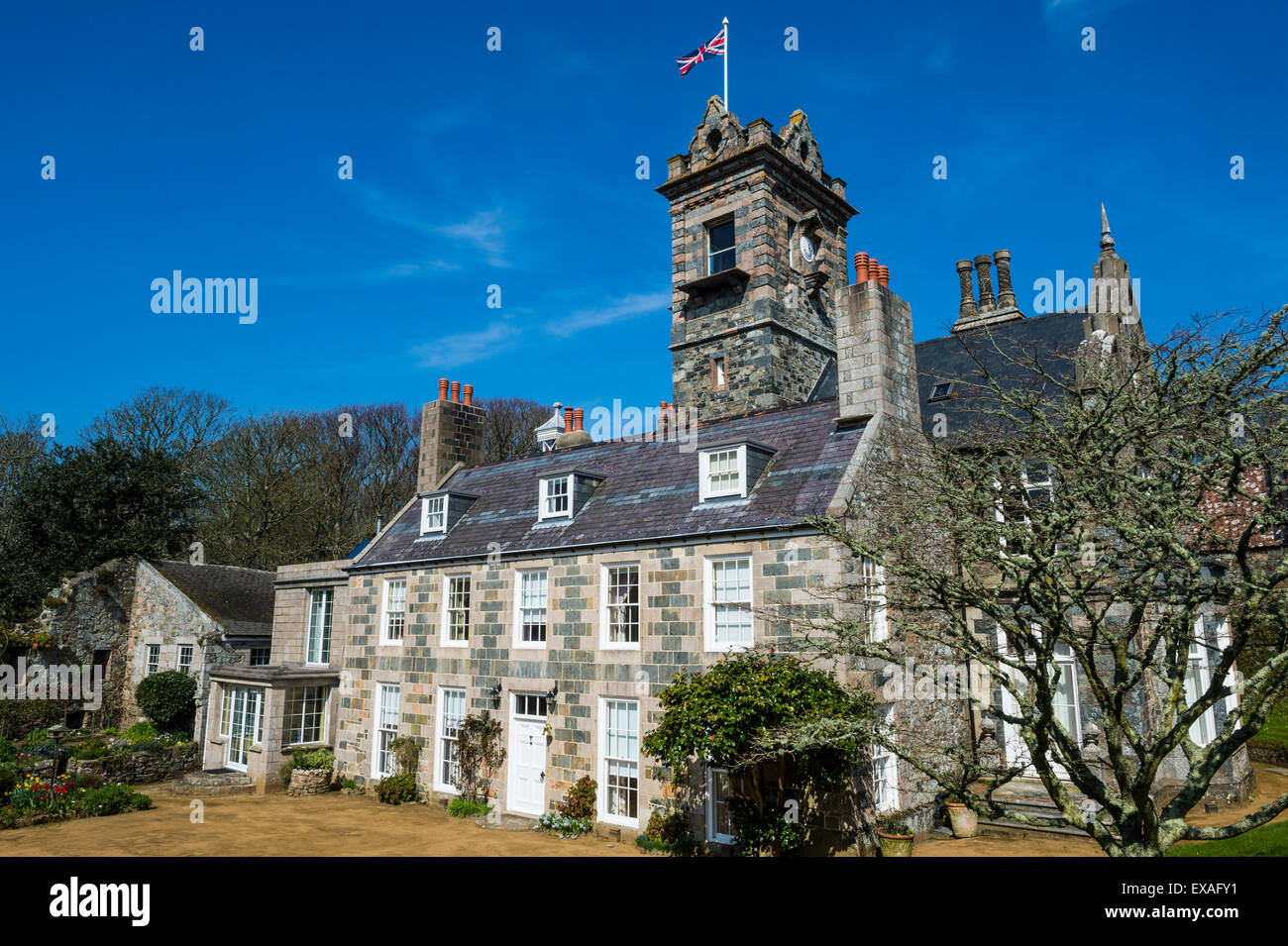 La Seigneurie House And Gardens Sark Channel Islands United Stock Photo Royalty Free Image