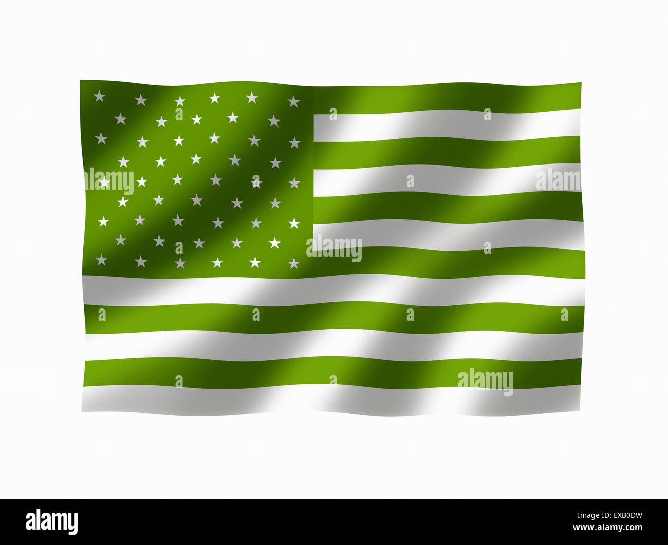 Green american flag stars and stripes flag symbolising green american flag stars and stripes flag symbolising ecological and conservation issues etc biocorpaavc
