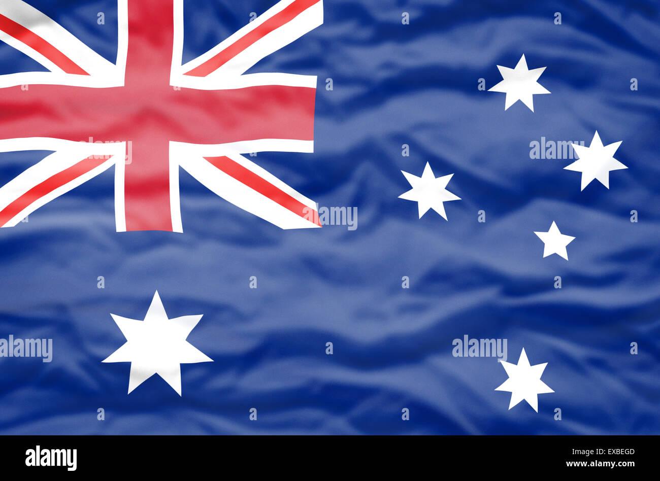 australia flag wavy flag of australia fills the frame stock photo