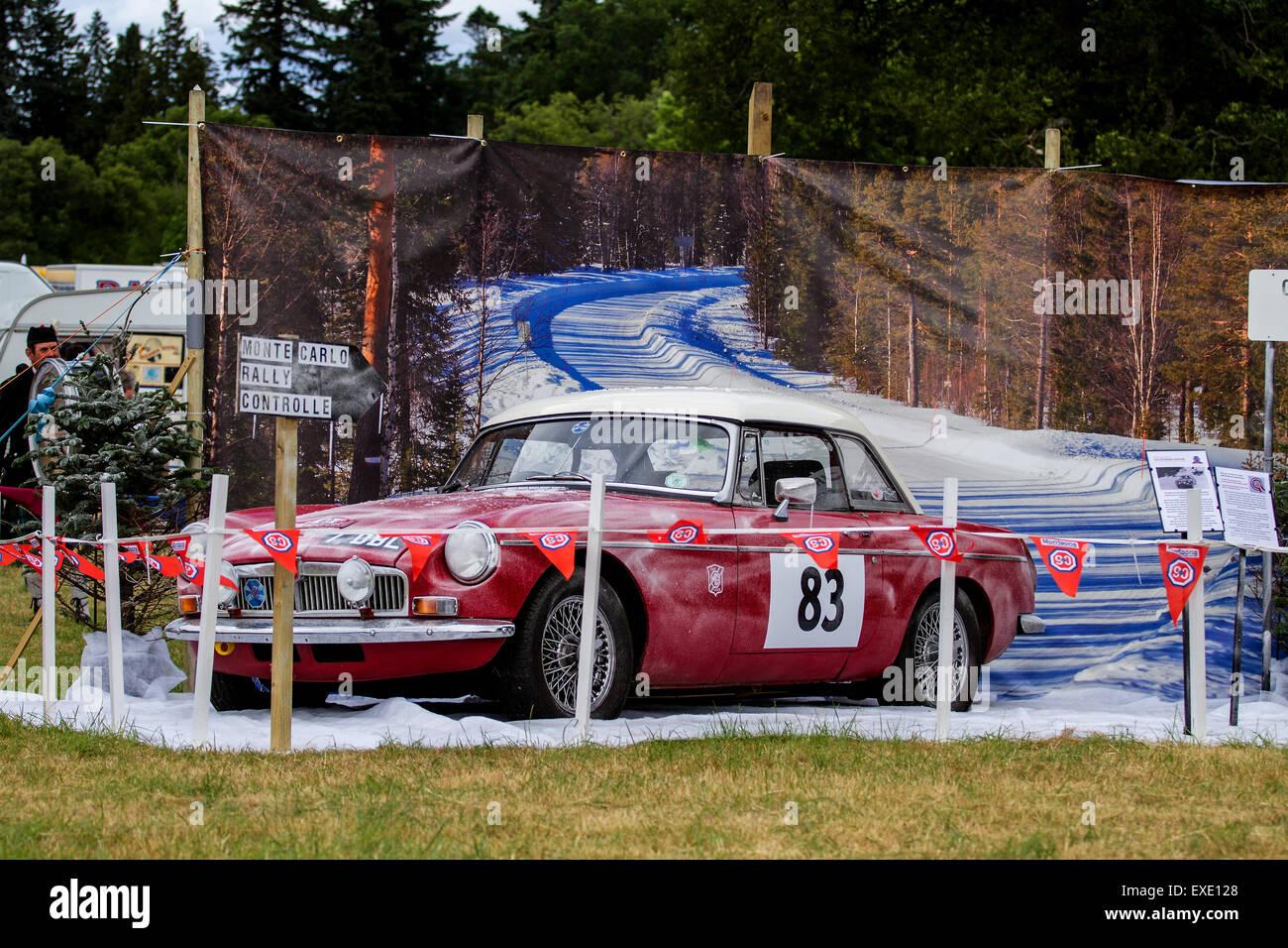 Glamis Scotland, UK. 12h July, 2015. 1964 MGB GT MK II Rally Monte ...