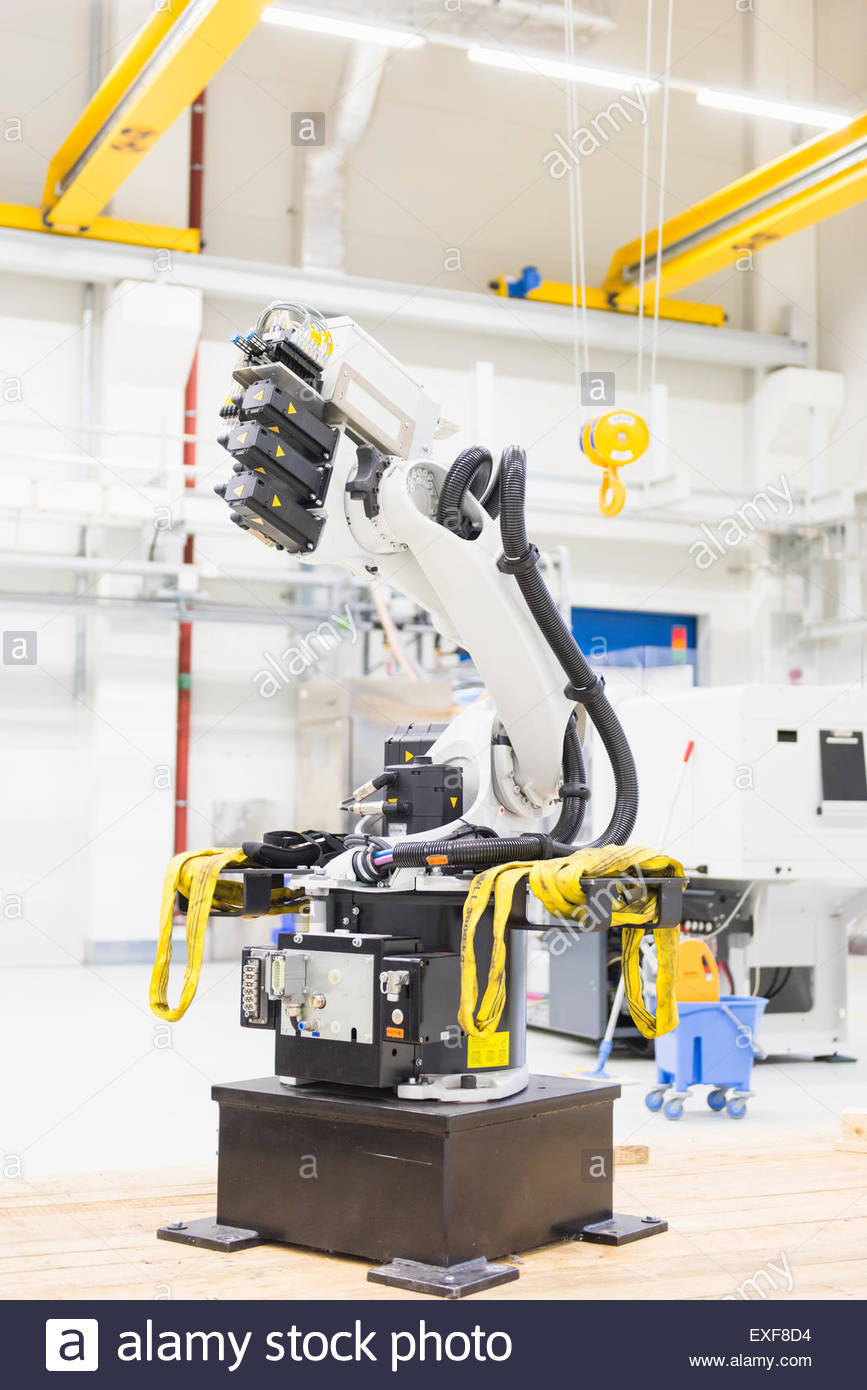 Machine in automation factory Stock Photo, Royalty Free Image ...