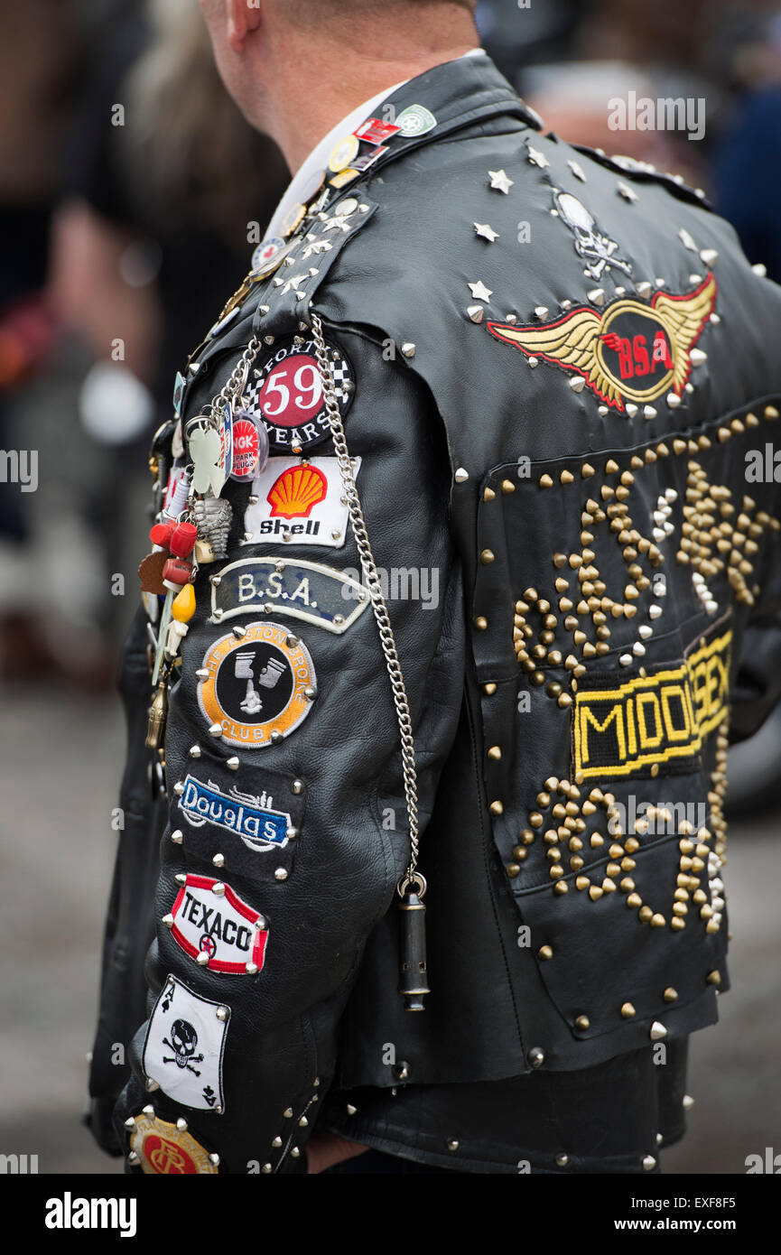 Leather jacket patches - Monochrome Rockers Leather Jacket Covered In Studs Patches And Badges Ton Up Day Jacks