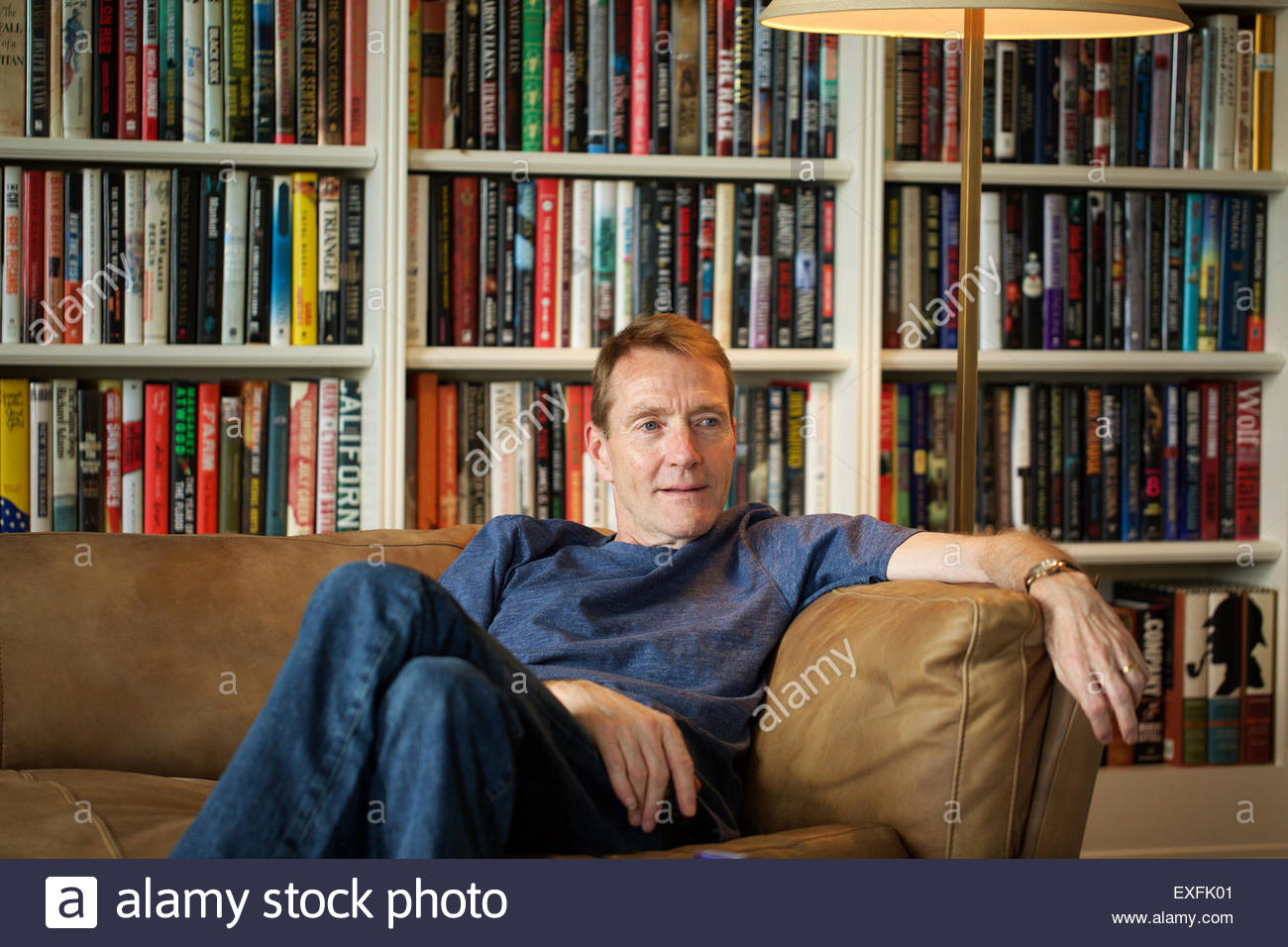 Author Lee Child, the man behind the Jack Reacher books Stock ...