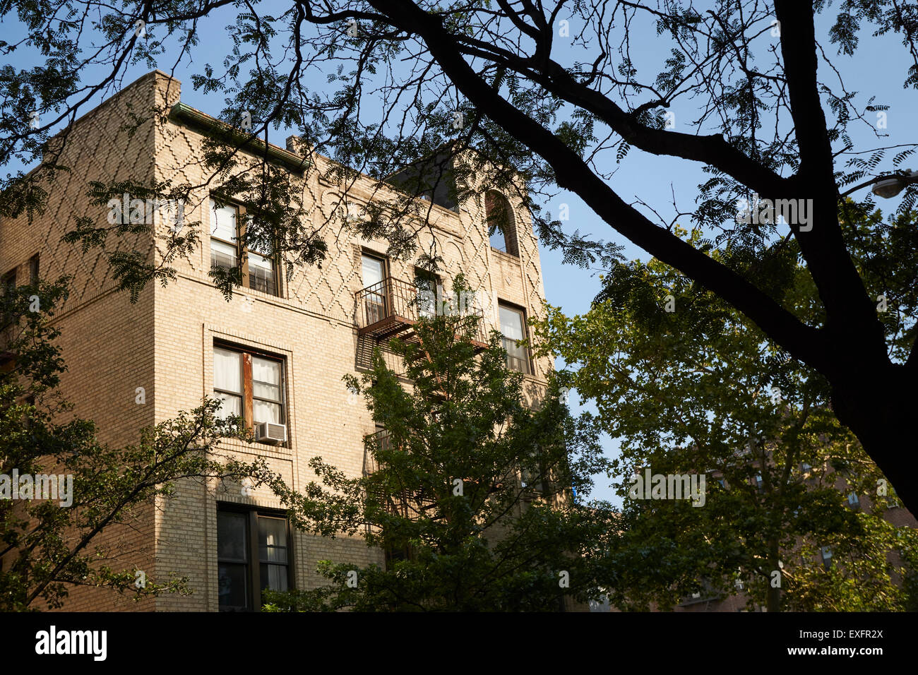 Apartment Building Queens apartment building, sunnyside, queens, new york, usa also called a