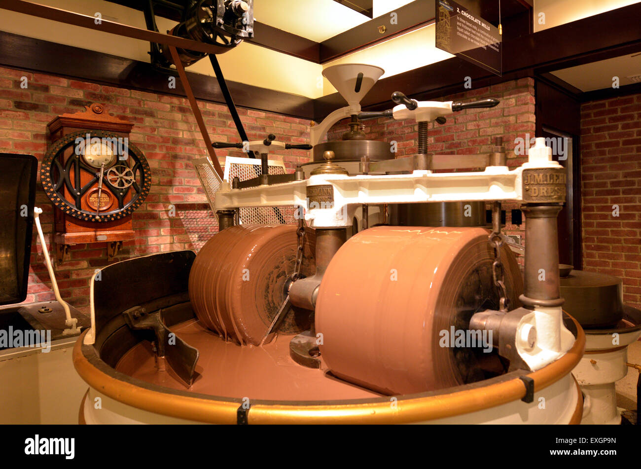 SAN FRANCISCO - MAY 17 2015:Chocolate manufacturing process in ...