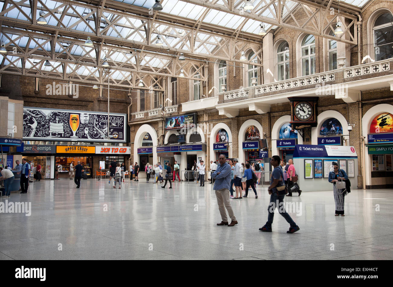 charing cross station concourse in uk stock photo