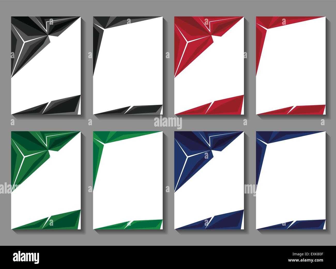 Brochures Templates Stock Vector Art Illustration Vector Image - Brochures templates