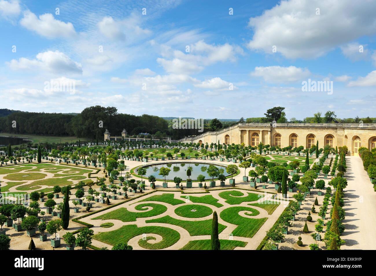 Chateau versailles garden and park orangery ile de france for Parking parc des expositions versailles