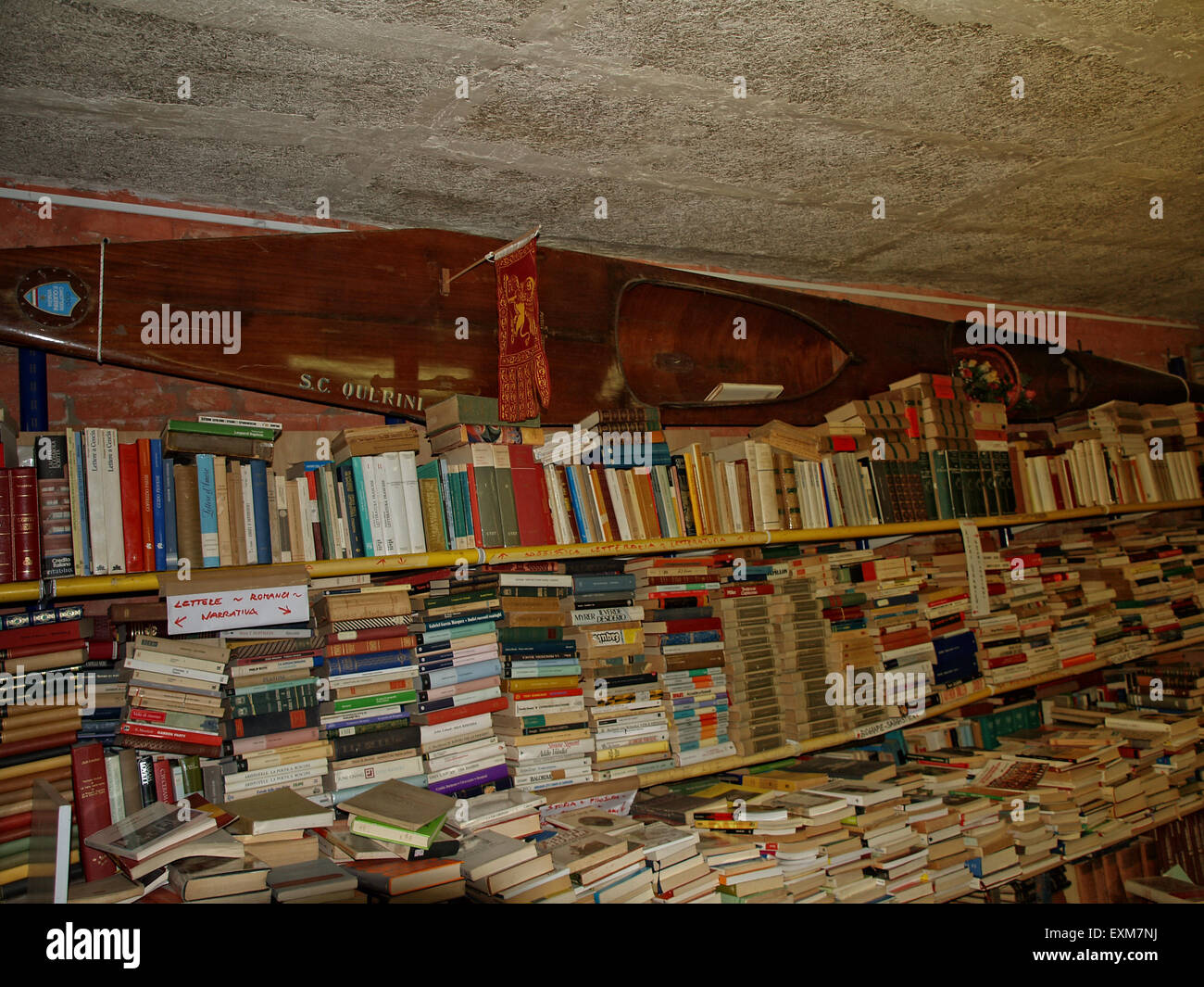 Books stacked on shelves in the most beautiful bookstore library in stock photo royalty free - Beautiful photoshelves ...
